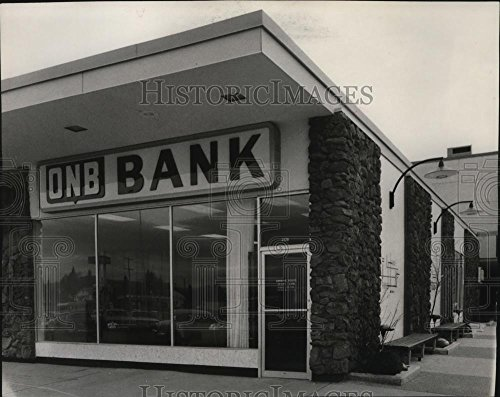 1967 Press Photo Old National Bank Branch In University City Shopping Center
