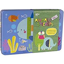 APLI Apli14827 Animal House Sticker Game in Tin Box