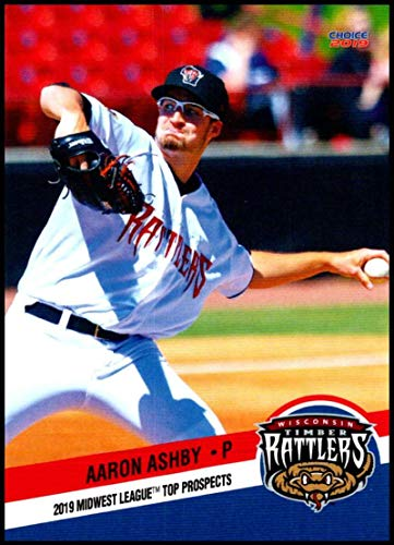 2019 Choice Midwest League Top Prospects #31 Aaron Ashby NM-MT Wisconsin Timber Rattlers Officially Licensed MiLB Baseball Trading Card ()