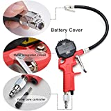ID Professional Digital Tire Air Inflator with Pressure Gauge - Quick Connection for Cars and Motorcycles - LCD Backlit Screen