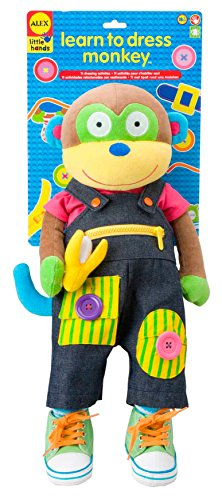 ALEX Toys Little Hands Learn To Dress Monkey