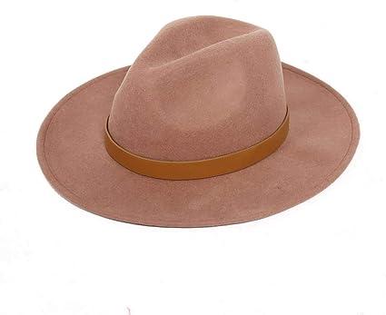 JDDREU Sombreros de Moda Gorras, Gorra Sombrero del paño de Lana ...