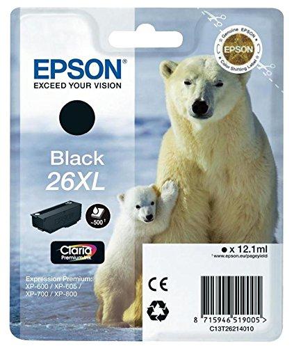 277 opinioni per Epson 26XL Serie Orso Polare Cartuccia Originale, XL, Nero
