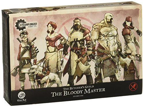 Steamfoged Games Guild Ball: Butcher Bloody Master Expanded Starter Set Miniature Game Figure