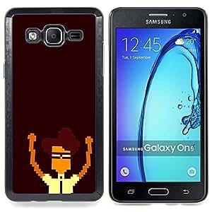 - Pixel Nerd - - Cubierta del caso de impacto con el patr??n Art Designs FOR Samsung Galaxy On5 SM-G550FY G550 Queen Pattern