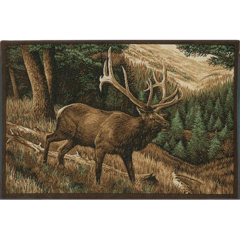 (Custom Printed Rugs CPR Roaming High Country Elk Rug)