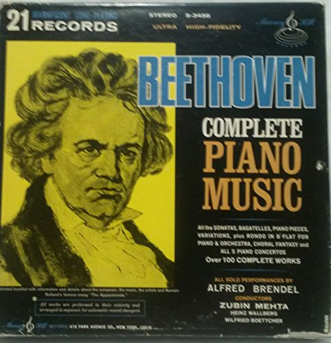 Music Piano Original Complete (Beethoven Complete Piano Music)