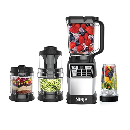 Ninja 4-in-1 Kitchen System (Blender, Processor, Auto-Spiralizer, High-Speed Blending Cup) AMZ012BL