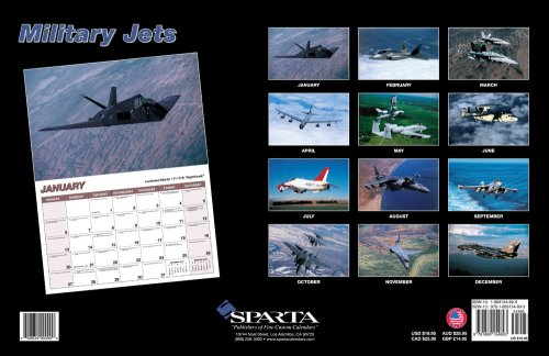 Sparta Military Jets - Military Jets 2008 Deluxe Wall Calendar
