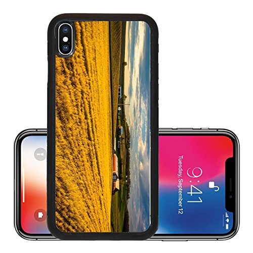 Liili Premium Apple iPhone X Aluminum Backplate Bumper Snap Case Evening on farm fields in rural York County Pennsylvania 28826464