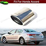New 1pcs Stainless Steel Tailpipe Exhaust Muffler Tail Pipe Tip Custom Fit For Honda Accord 2008 2009 2010 2011 2012 2013 2014 2015 2016 2017 2018