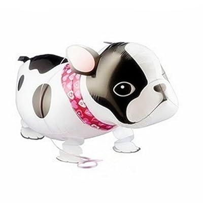 Walking Bulldog Helium Balloon Birthday Kids Party Toy, Set of 3: Toys & Games
