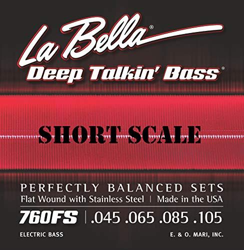 - 760FS-S LaBella Deep Talkin' Bass String Set Flat Wound - SHORT SCALE