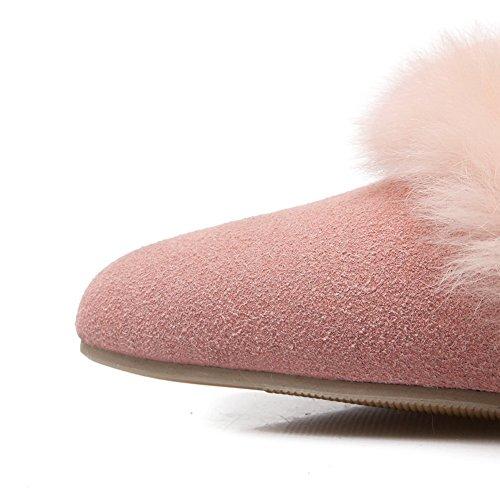 Adee Mujer Pantalones kitten-heels esmerilado bombas zapatos Rosa - rosa