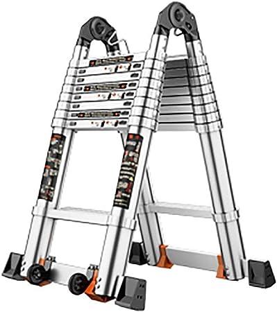 WGOOGA Escalera Doble de Aluminio telescópica A Extensión Loft Escalera portátil Extensible Escalera Plegable Escalera telescópica Escalera Multiusos for Interiores y Exteriores (Size : 1.8M+1.8M): Amazon.es: Hogar
