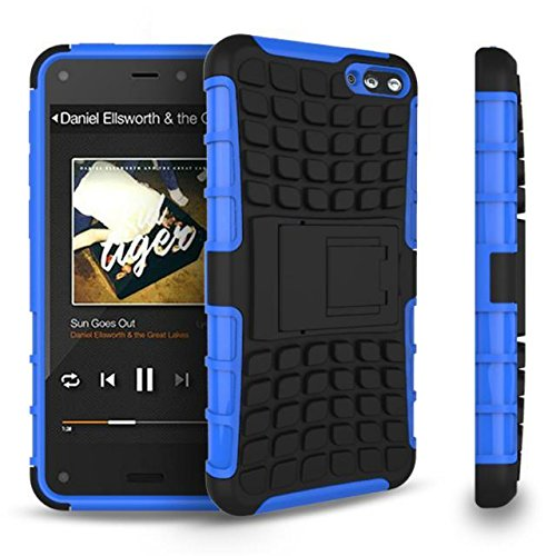 GearIt Amazon Fire Phone Case - GearIt [BLOK Armor] Hybrid Dual Layer Rugged Case Cover with Kickstand for Amazon Fire Phone, Blue