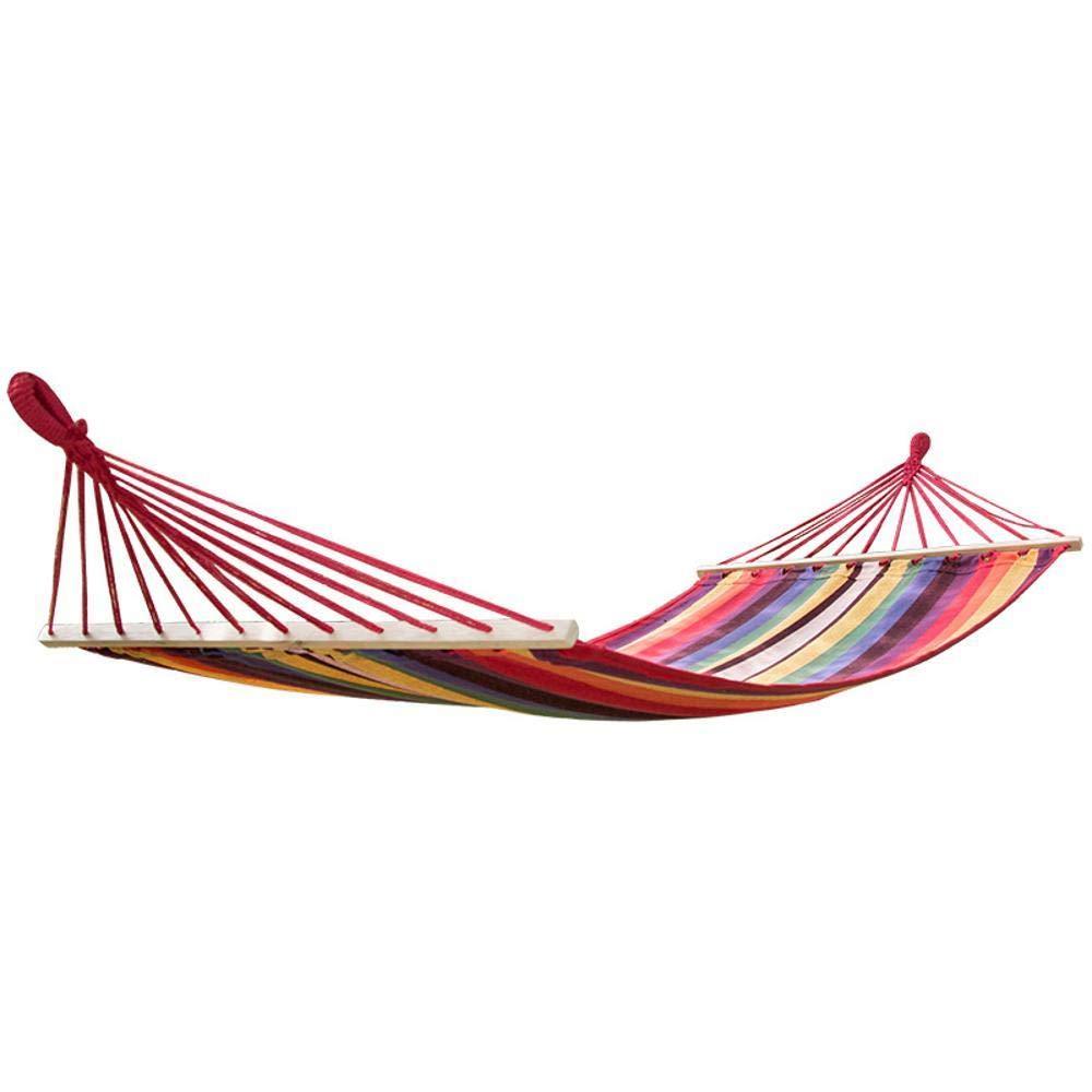 Y-YT Reise Camping Hängematte Volle Baumwoll Canvas Indoor Kinder doppelte verbreitert Pillowtop Hängematte 200  100cm