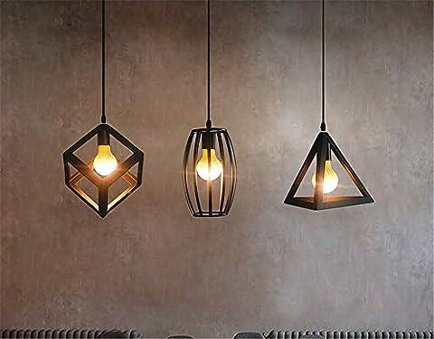 Modern simple creative personality lighting industrial wind chandelier iron living room lights bar counter lamps single head restaurant chandeliers, black, - Sixteen Lamp Chandelier