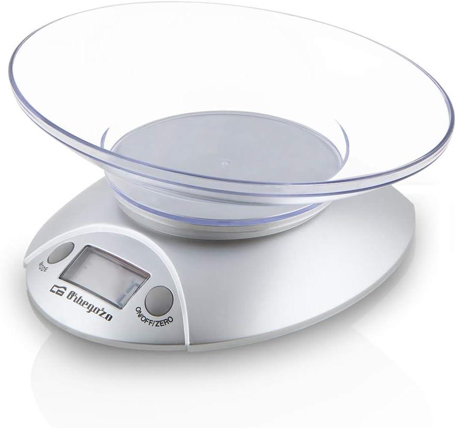 Orbegozo PC 1009 1009 - Peso de Cocina electrónico, plástico, plateado