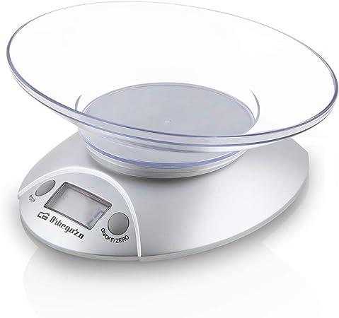 Orbegozo PC 1009 - Báscula de cocina, bol transparente, pantalla LCD, funciona con pilas, capacidad máx. 3 kilograms: Amazon.es: Hogar