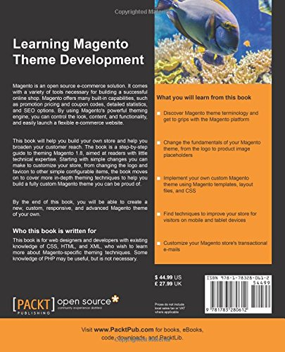 Learning Magento Theme Development by Packt Publishing - ebooks Account