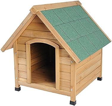EUGAD Caseta de Madera Maciza para Perro Jaula Casa para Perro Conejo Cobaya Casa para Impermeable 76x76x72 cm 0037HT