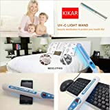 Portable UV Sanitizer Hand Wand Ultra Violet Light Kill Bacteria & Germ Sterilizer (Blue) by KIKAR