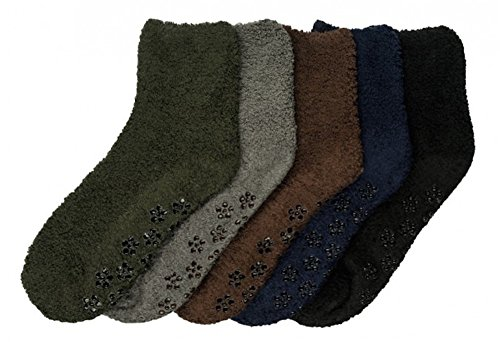 Fuzzy Ankle Socks - Mamia 6 Pairs Women's Cozy Slipper Socks Fuzzy Sock Multi Color (Style 12)