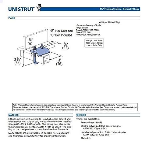 Genuine Unistrut P2785-EG 1-5/8