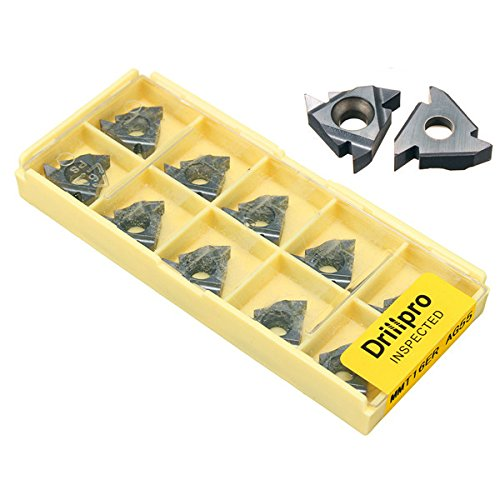 Hitommy Drillpro 10pcs 16ER AG55 Tungsten Steel Inserts External Turning Tool Holder Inserts