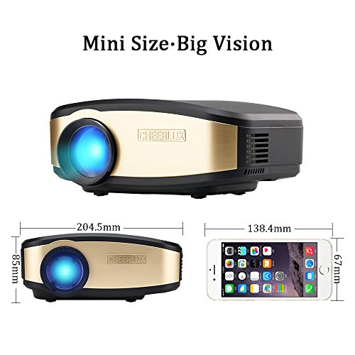 Video projector wifi full hd vprawls wireless portable for Best wireless mini projector