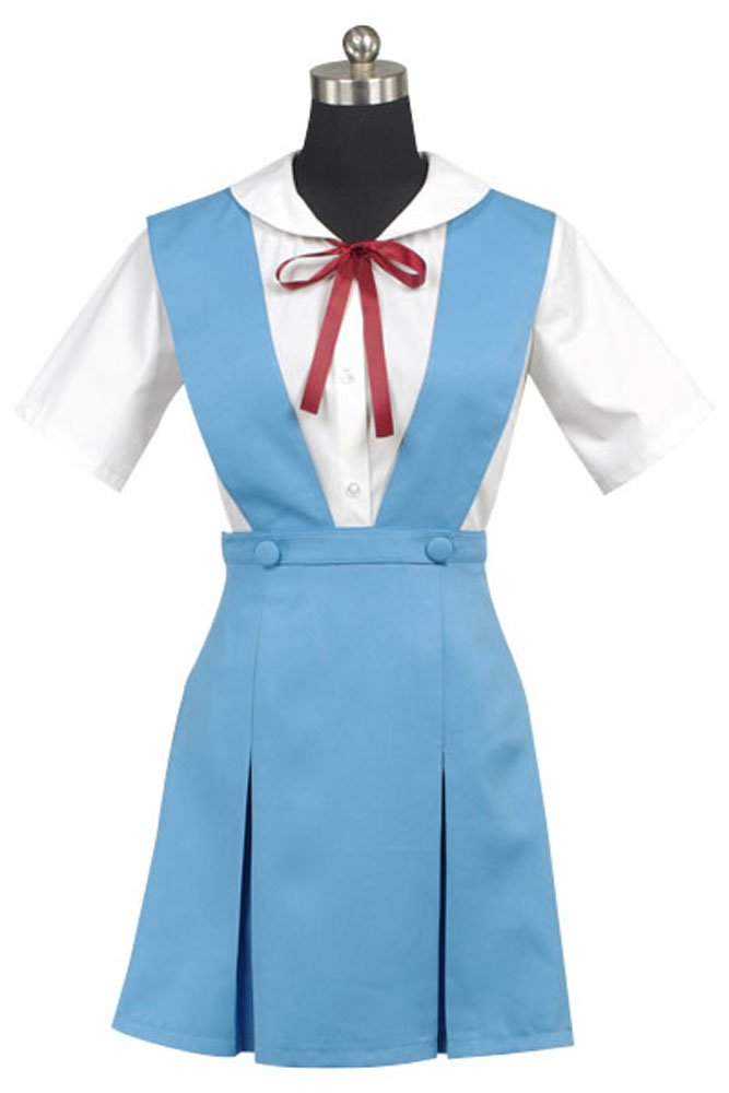 EVA Ayanami Rei Cosplay Kostüm Kleid Blau Damen S