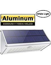 Luces de pared solar de seguridad al aire libre, Licwshi 1100lm 46 LED
