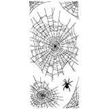 Inkadinkado 60-31291 Spider Webs Clear Stamp Set, Black