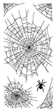 Inkadinkado 60-31291 Spider Webs Clear Stamp Set, Black