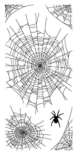 Inkadinkado 60-31291 Spider Webs Clear Stamp Set, Black by Inkadinkado
