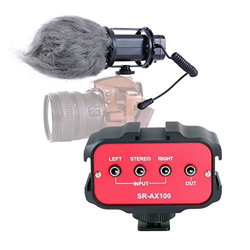 Movo DSLR Audio Bundle with X/Y Stereo Video Microphone and Standard Mixer for DSLR Cameras & Camcorders by Movo