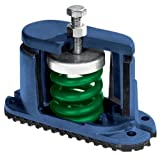 """Mason C-A-125 Ductile Iron Housed Spring Floor Mount Vibration Isolator, 125lbs Capacity, 1.33"""" Deflection, 94lbs/in Spring Constant, Brown"""