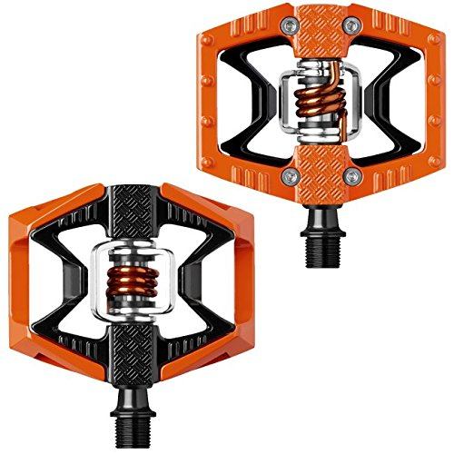 CRANKBROTHERs Crank Brothers Double Shot Pedals, Orange/Black/Orange Spring