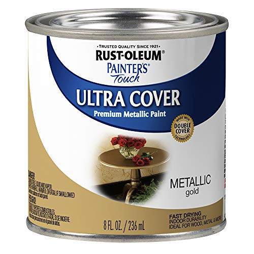 Rust-Oleum 240287 Painter's Touch Satin Gold Metallic, HP, 1/2 Pint,