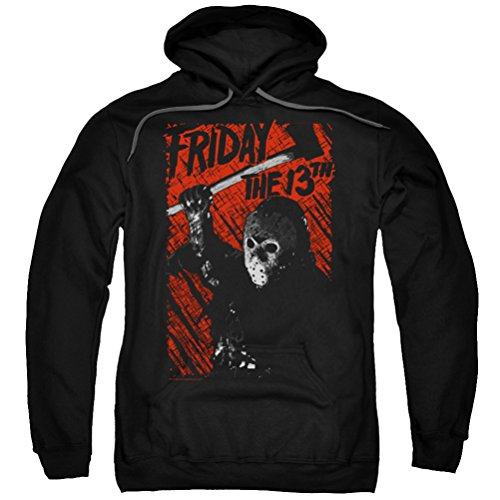 Friday the 13th Jason Lives Hoodie, Black, -