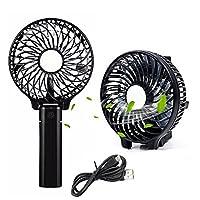 Supermall Mini Portable Foldable Rechargeable Fan Hand Multi functional Fan Hand grip Outdoor Fan Cooler (Multi Color )