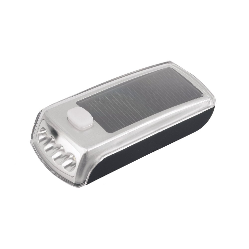 Bike Bicycle 4 LED Solar Powered USB 2.0 Rechargeable Front Light by Isguin (Image #2)