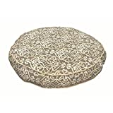 XL Indoor Outdoor White Grey Trellis Pattern Dog Bed, Gray Geometric Modern Round Pet Bedding, Bold Pretty Print, Features Water Mildew Resistant, Removable Cover, Stylish, Polyester
