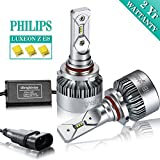 iBrightstar 9006 HB4 LED Headlight Bulbs Conversion Kit - Philips ZES 8,000lm 6000K Cool White - 2 Yr Warranty