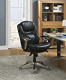 Serta Back in Motion Health and Wellness Mid-Back Office Chair, Black