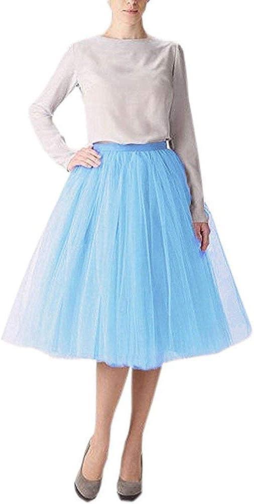Women 5 Layers Tulle Skirt...