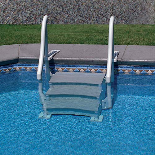 Swimming Pool Stairs - Confer In Ground Swimming Pool Curve Base Steps