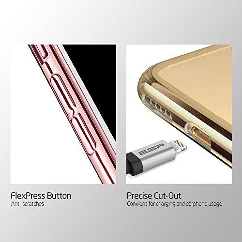Apple iPhone 7 Caso Elegante - Negro Cristal Claro Caso TPU Gel Suave Cubrir Para Apple iPhone 7 - thinkmobile Argento