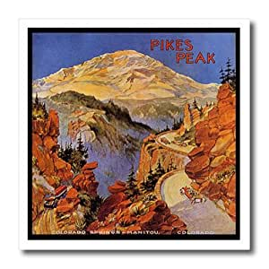 ht_174206_1 Florene - Vintage Travel Posters - Image of pikes peak colorado - Iron on Heat Transfers - 8x8 Iron on Heat Transfer for White Material